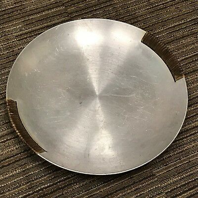 RUSSEL WRIGHT SPUN ALUMINUM SERVING TRAY LARGE but I have a SMALL for sale too