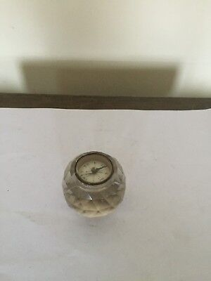 Lovely Compass In A Cut Glass Holder