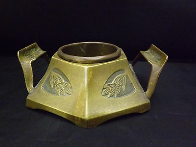 Antique rare bronze art nouveau ashtray pipe rest holder