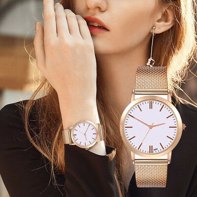 Women Luxury Auger Crystal Date Stainless Steel Quartz Lady Women Wrist Watches