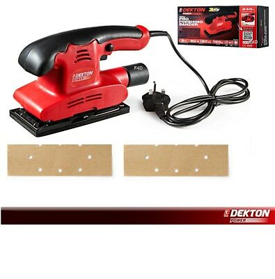 Dekton 150W Electric Detail Palm Finishing Sander Sanding Machine & Sheets 240V
