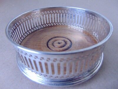 Beautiful Sterling Silver Pierced Bottle/ Wine Coaster London 1979