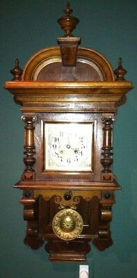 Vintage German Key Wound Wall Clock, Early 20th Century