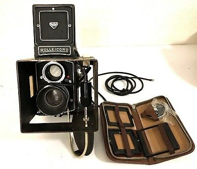 Rolleicord Vb Vintage TLR Camera Schneider Xenar 3.5/75mm Lens Extra Parts As-Is