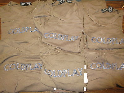 New - 6X Wholesale Lot Coldplay Band Concert 3/4's Sleeve T-Shirt Girls Small