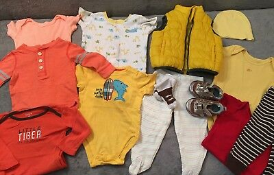 Lot of 13 pcs Cute Boys Girls Clothes 3-6 Month