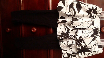 Cat & Jack Black and White Skirt with attached Leggings (size 3T)