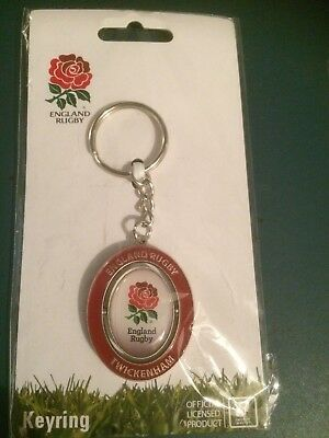 England RFU Official Rugby spinning Keyring Very Nice Class Item