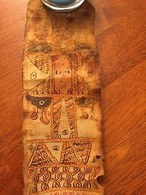Antique Scroll Several Hundred Years Old Origin Unknown Hand Painted.