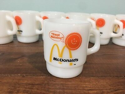 Mcdonalds Good Morning Stacking Coffee Tea Mug Cup Fire King Anchor