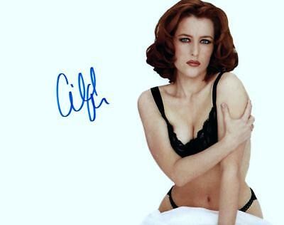 Gillian Anderson Signed 8x10 Photo MUST SEE very nice autographed + COA