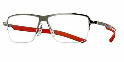 TAG HEUER TH3821 002 Pure Silver Red / Demonstration Lens 55mm Eyeglasses