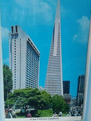 Vintage Photo Post Card Transamerica's Pyramid Landmark San Francisco California