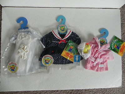 """Lot of 3 NWT Madeline Outfit for 15"""" doll Polka dot dress wedding robe w/ducky"""