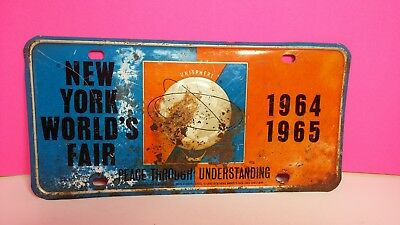 1961 New York World's Fair 1964-1965 Full Size License Plate Cover