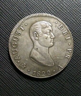 Coin 8 Reales 1822 Mexico