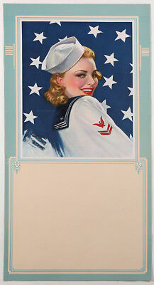 Victor Tchetchet 1940s Pin-Up Poster WWII Victory Girl Sailor Navy Sweetheart