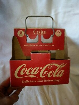 Coca cola Rare Morris Paper Carrier With Pop-up Metal Handle