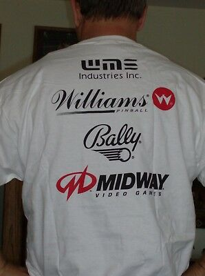 NOS Bally Williams Midway Pinball Machine Cotton T-Shirt XL NEW old stock