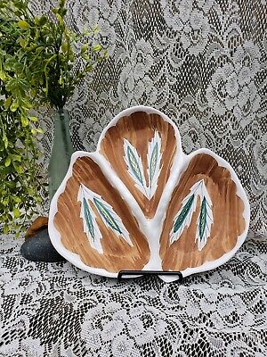 Mid Century Modern 3 Sectioned Serving Tray/ Signed and Numbered