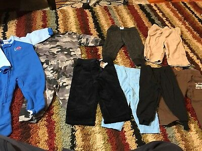 Baby Boy Size 9-12 Month Winter Clothes Pants Shirts Sleepers