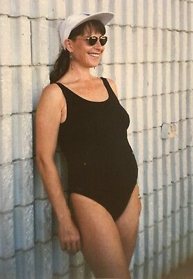 Size 10 Maternity Swimwear - Basic one piece - Scoop neckline ML0/03