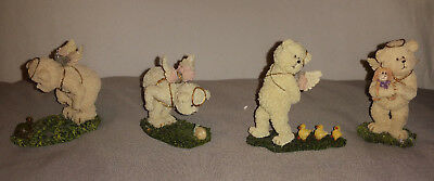4 Boyds Bear  Lil' Wings Bears With Little Friends - 1St & 2Nd Editions