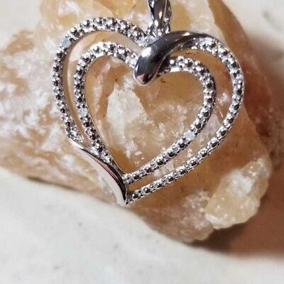 .2 ct Diamond Swirled Heart Pendant in 14K Gold Plated-Sterling Silver