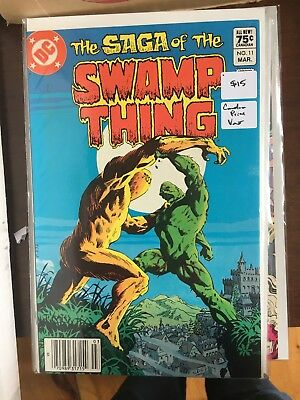 SAGA OF THE SWAMP THING #11 NM- 1st Print CANADIAN PRICE VARIANT Newsstand comic