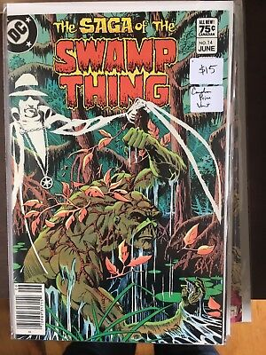 SAGA OF THE SWAMP THING #14 NM- 1st Print CANADIAN PRICE VARIANT Newsstand comic