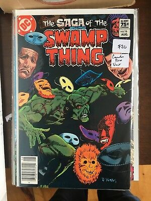 SAGA OF THE SWAMP THING #16 NM 1st Print CANADIAN PRICE VARIANT Newsstand comic