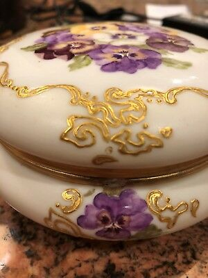 Antique Limoges France dated 1894 Porcelain Jewelry Box Powder Dresser (WOW)