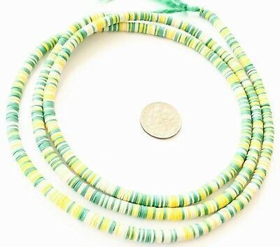 Magic Neon Pink variety Recycled Phono Record Vinyl African trade beads-Ghana
