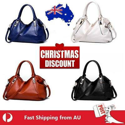 Wine Red Women Handbag Female PU Leather Bag Handbag Ladies Portable Shoulder AU