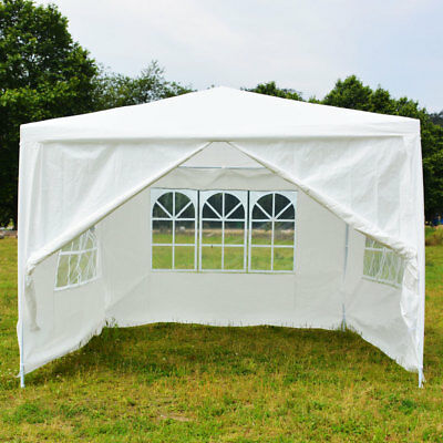 New Patio Gazebo Heavy Duty 10x10 ft Party Canopy Shelter Tent W/Spiral Tube
