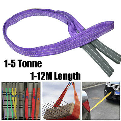 1-6 Tonnes 1-12 Meters Flat Lifting Sling Webbing Sling Polyester Lifting Strap