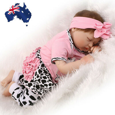 AUS 22'' Lifelike Baby Doll Handmade Silicone Reborn Newborn Dolls Toy+ Clothes