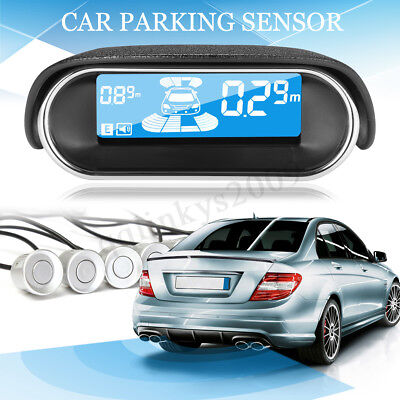 AUS LCD Monitor Car Parking Sensor System 8 Rear Front View Reverse Backup Kit