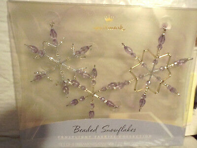Hallmark Beaded Snowflake Ornaments Frostlight Faeries Set of 3  Lavender purple
