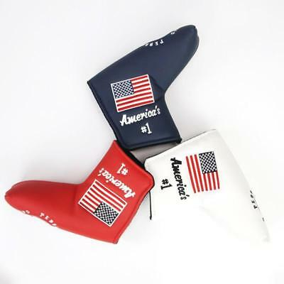 Velcro closing Blade Putter Cover Headcover America Style For Putter Protecting