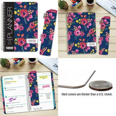 """Hardcover Academic Year Planner 2018-2019 - 5.5""""X8"""" Daily Planner/Weekly Planner"""