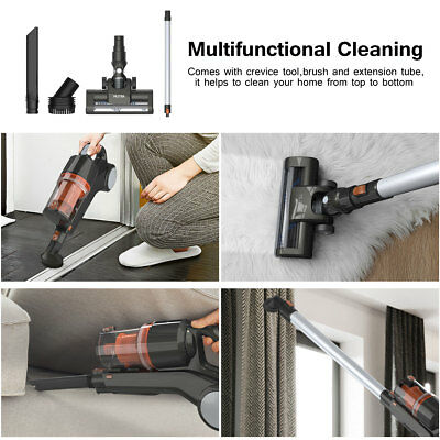 22.2V 2 in 1 Powerful Vac Handstick Handheld Bagless Stick Vacuum Cleaner HEPA