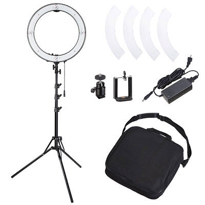 "18"" 50W Dimmable LED Ring Light 5500K Continuous Lighting Kit with Light Stand"