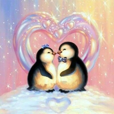 Penguin Couple Full Drill 5D Diamond Painting Embroidery Cross Stitch Kit
