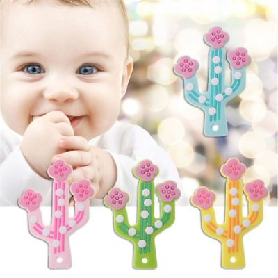 Cactus Baby Teething Pendant Nursing Silicone Beads Teething Necklace Toys DIY