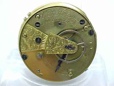 Antique Fusee Pocket Watch Movement  C J Hobson Rotherham