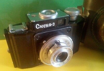 TWO vintage russian camera FED-3 Leica copy RARE and Smena-2 working collectible