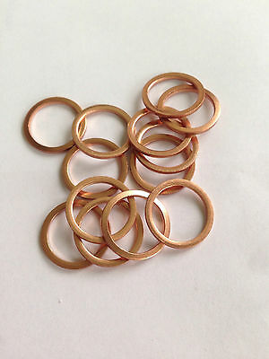 Copper Sealing Washers Choose Quantity M5. 5x9x1 5mm ID x 9mm OD x 1mm