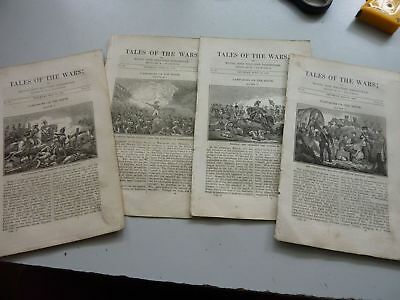 1837 Naval & Military Chronicle Campaigns On The Rhine Parts 3,4,5 & 6 Original