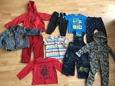 Baby boys bundle 12-18 months dungarees jackets tracksuit bottoms boden next m&s